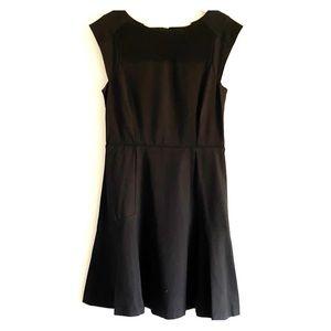 Banana Republic black flared dress